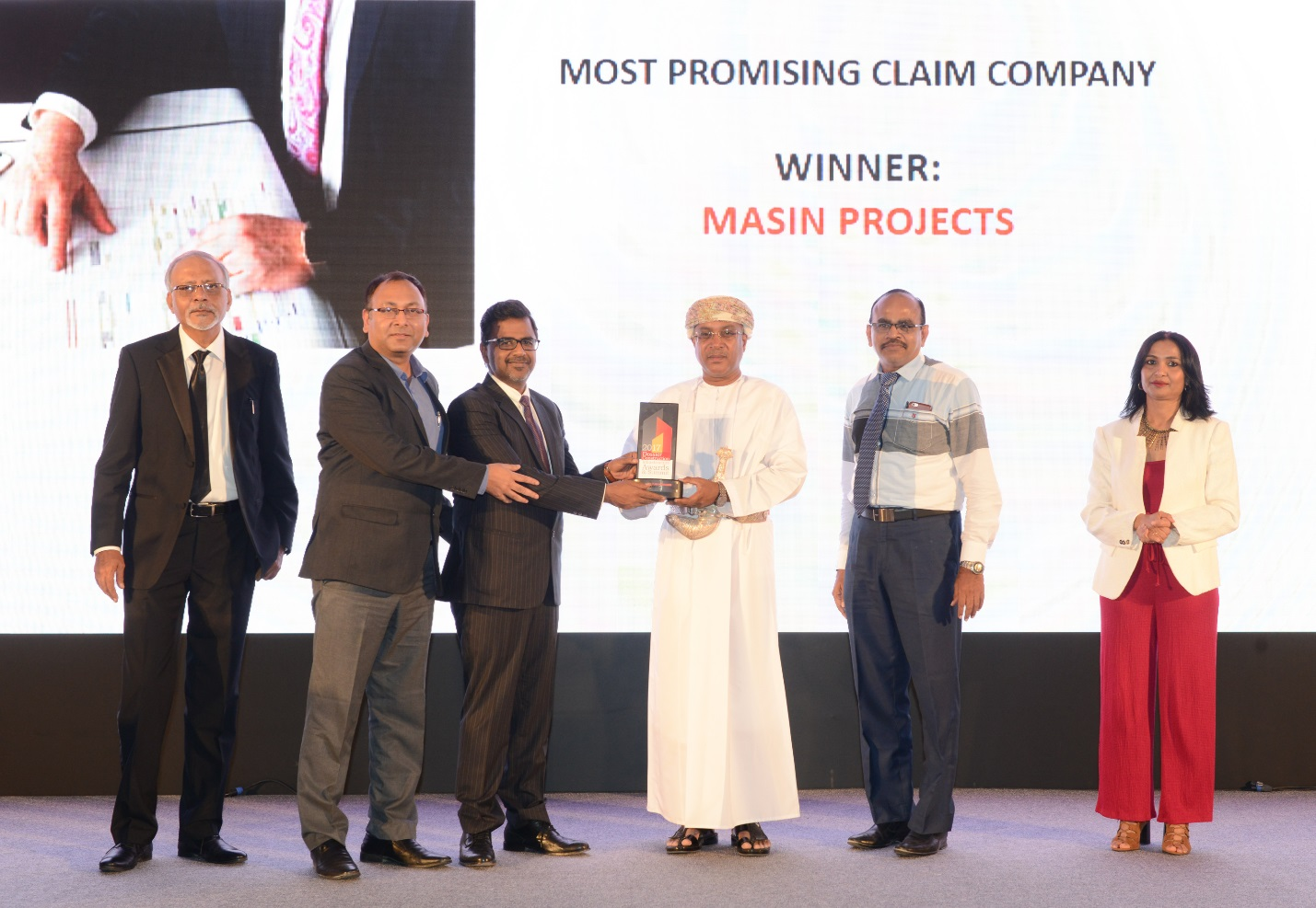 """Masin receives Award for """"Most Promising Claim Consultant in Oman"""""""