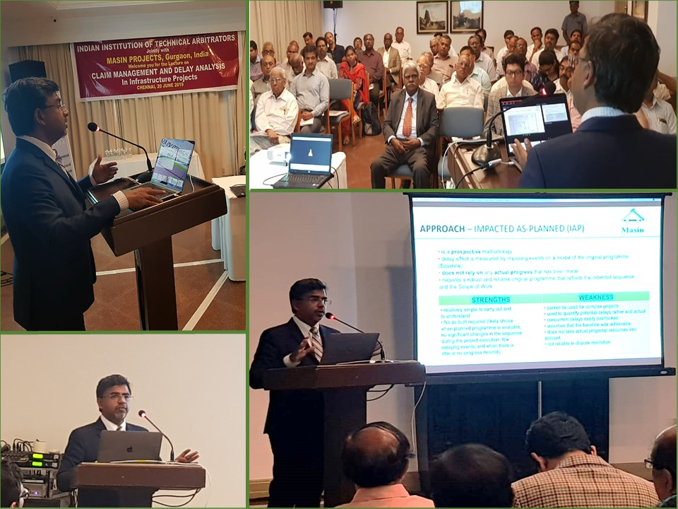 Claim Management and Delay Analysis in Infrastructure Projects– Chennai